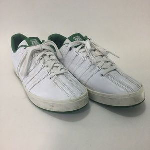 Kswiss White Sneakers Green Lining 95
